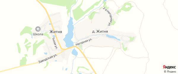 Карта деревни Житня в Брянской области с улицами и номерами домов