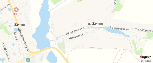 Северный переулок на карте поселка Житня с номерами домов