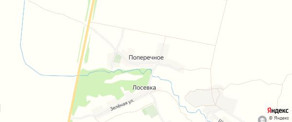 Карта хутора Поперечного в Брянской области с улицами и номерами домов