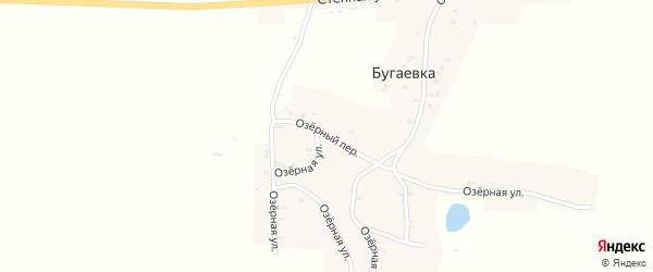 Озерный переулок на карте деревни Бугаевки с номерами домов