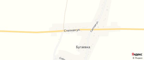 Степная улица на карте деревни Бугаевки с номерами домов
