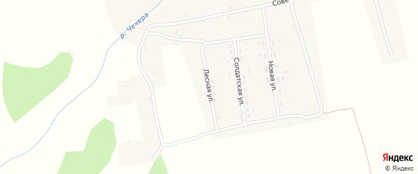 Лесная улица на карте села Евдокольего с номерами домов