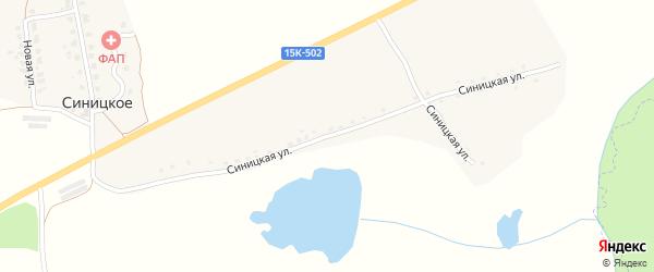 Синицкая улица на карте деревни Синицкого с номерами домов