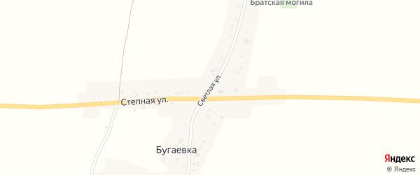 Светлая улица на карте деревни Бугаевки с номерами домов
