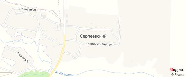Луговая улица на карте Серпеевского поселка с номерами домов