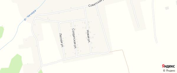 Новая улица на карте села Евдокольего с номерами домов