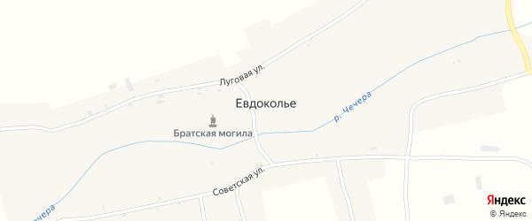 Солдатская улица на карте села Евдокольего с номерами домов