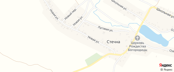 Новая улица на карте села Стечна с номерами домов