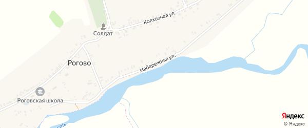 Набережная улица на карте села Рогово с номерами домов