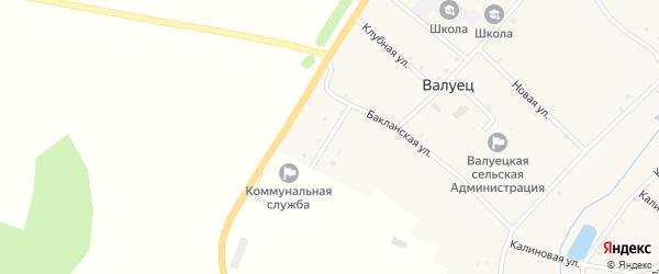 Молодежная улица на карте села Валуйца с номерами домов