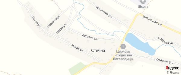 Луговая улица на карте села Стечна с номерами домов