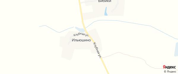 Карта деревни Ильюшино в Брянской области с улицами и номерами домов