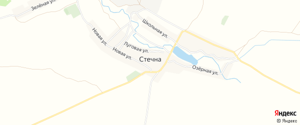 Карта села Стечна в Брянской области с улицами и номерами домов