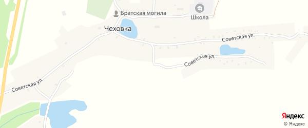 Советская улица на карте села Чеховки с номерами домов