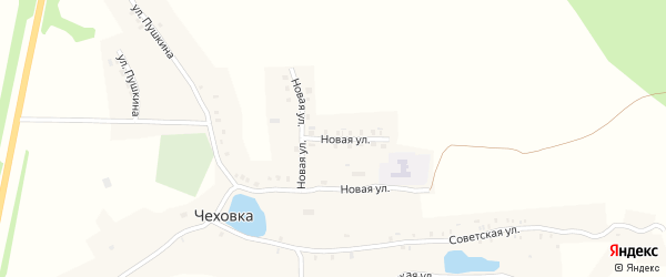 Новая улица на карте села Чеховки с номерами домов