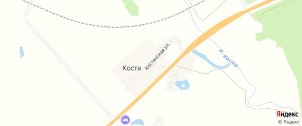 Костянская улица на карте хутора Косты с номерами домов