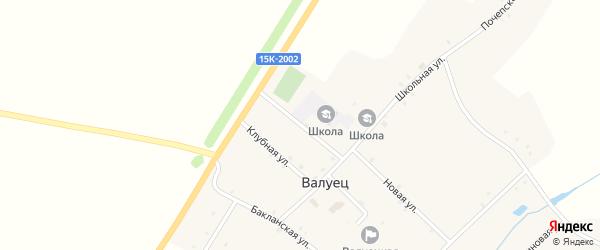 Школьная улица на карте села Валуйца с номерами домов