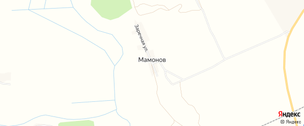 Карта поселка Мамонова в Брянской области с улицами и номерами домов