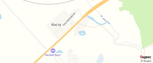 Магистральный переулок на карте хутора Косты с номерами домов