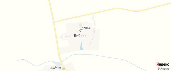 Карта деревни Бибики в Брянской области с улицами и номерами домов