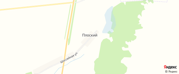 Карта Плоского поселка в Брянской области с улицами и номерами домов