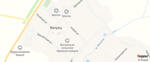 Новая улица на карте села Валуйца с номерами домов