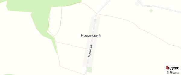 Карта Новинского поселка в Брянской области с улицами и номерами домов