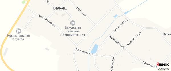 Погарская улица на карте села Валуйца с номерами домов