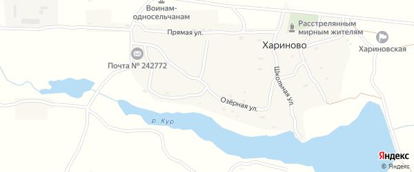 Озерная улица на карте села Хариново с номерами домов