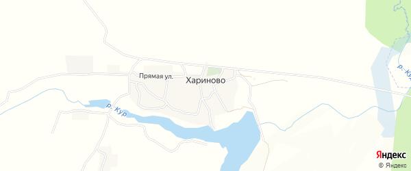 Карта села Хариново в Брянской области с улицами и номерами домов