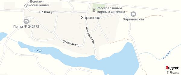 Школьная улица на карте села Хариново с номерами домов
