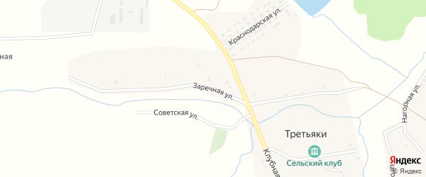 Заречная улица на карте села Третьяки с номерами домов