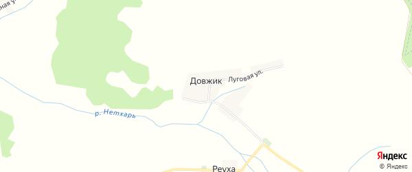Карта поселка Довжика в Брянской области с улицами и номерами домов
