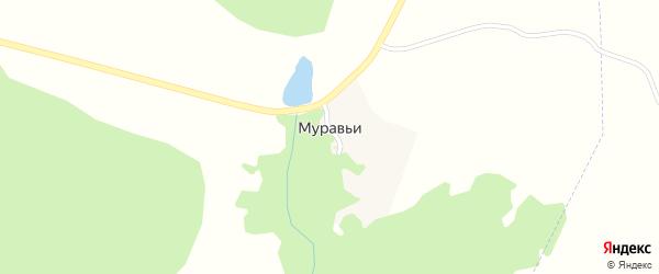 Садовая улица на карте поселка Муравьи с номерами домов