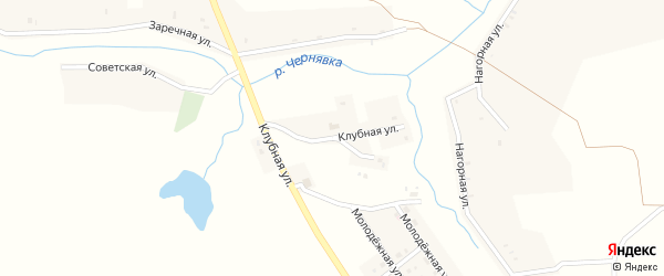 Клубная улица на карте села Третьяки с номерами домов