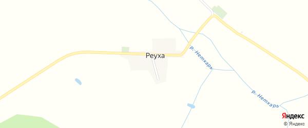 Светлая улица на карте хутора Реухи с номерами домов