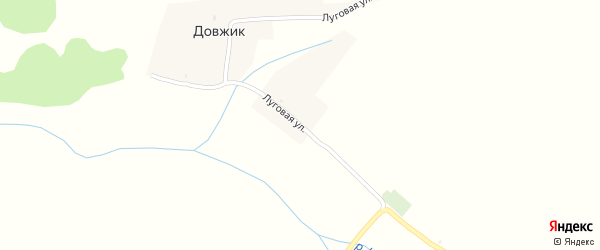 Луговая улица на карте поселка Довжика с номерами домов