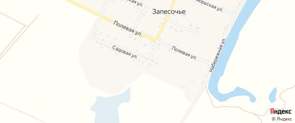 Садовая улица на карте поселка Запесочья с номерами домов