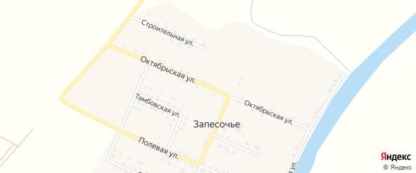 Октябрьская улица на карте поселка Запесочья с номерами домов