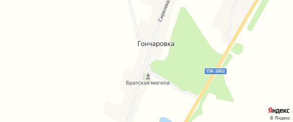 Сиреневая улица на карте поселка Гончаровки с номерами домов