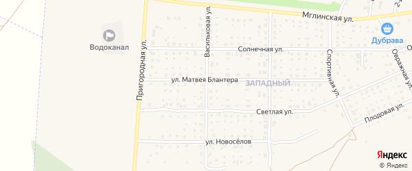 Васильковая улица на карте Почепа с номерами домов