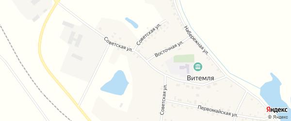 Советская улица на карте села Витемли с номерами домов
