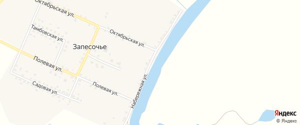Набережная улица на карте поселка Запесочья с номерами домов