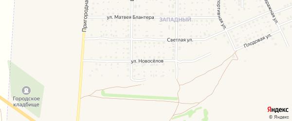 Улица Новоселов на карте Почепа с номерами домов