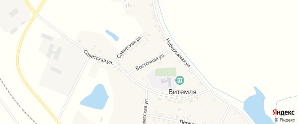 Восточная улица на карте села Витемли с номерами домов