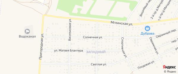 Солнечная улица на карте Почепа с номерами домов