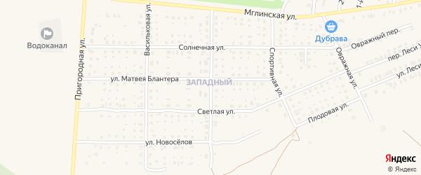 Тамбовская улица на карте Почепа с номерами домов