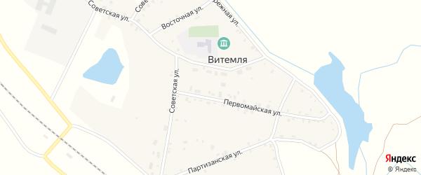 Привокзальная улица на карте села Витемли с номерами домов