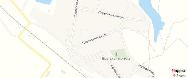 Партизанская улица на карте села Витемли с номерами домов