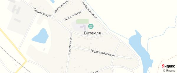 Школьная улица на карте села Витемли с номерами домов